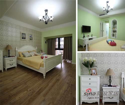 混搭 三居 卧室图片来自用户1907689327在精明主妇精打细算10万元装95㎡45的分享
