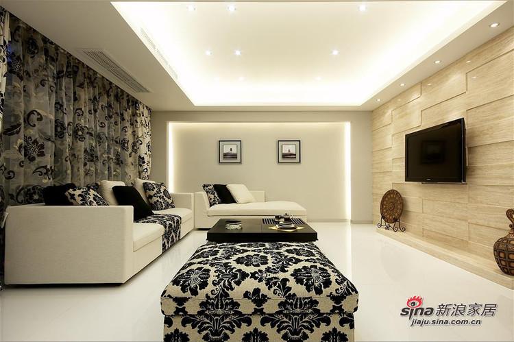 简约 三居 客厅图片来自用户2737786973在11万6打造龙湖·香醍溪岸-黑白色调简约三居94的分享