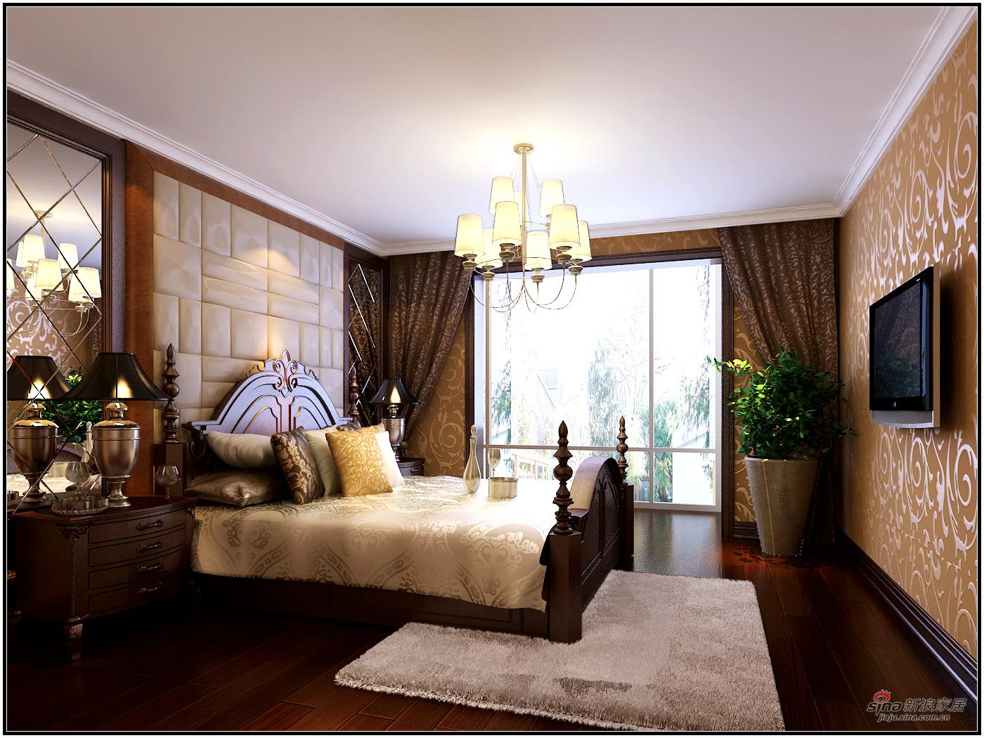 美式 复式 卧室图片来自用户1907686233在【高清】180平米奢华欧美风41的分享