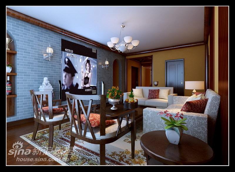 中式 三居 客厅图片来自用户2740483635在127平完美、细致中式混搭风格22的分享