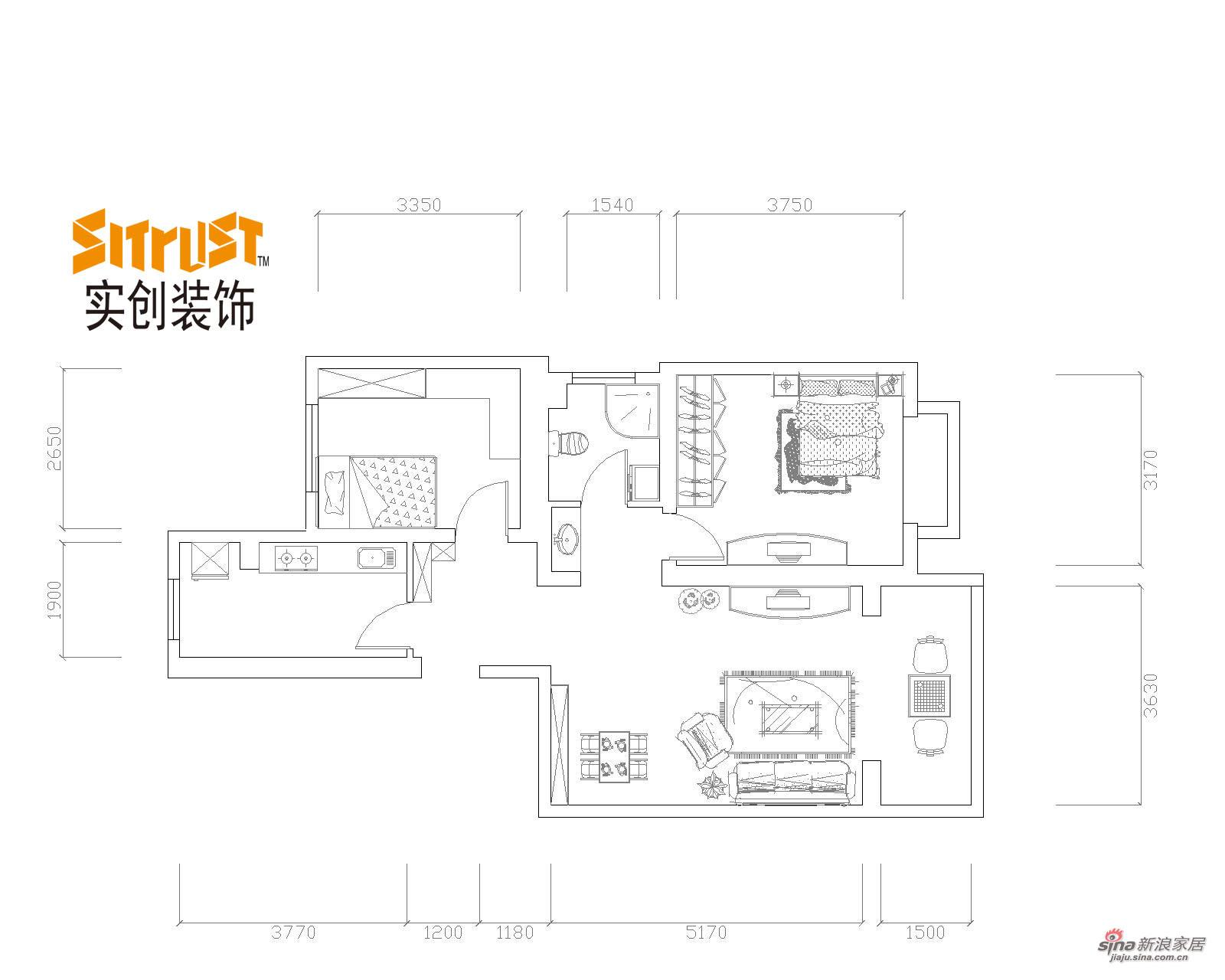 中式 二居 其他图片来自用户1907658205在功能化现代中式风格营造出温馨舒适两居室44的分享