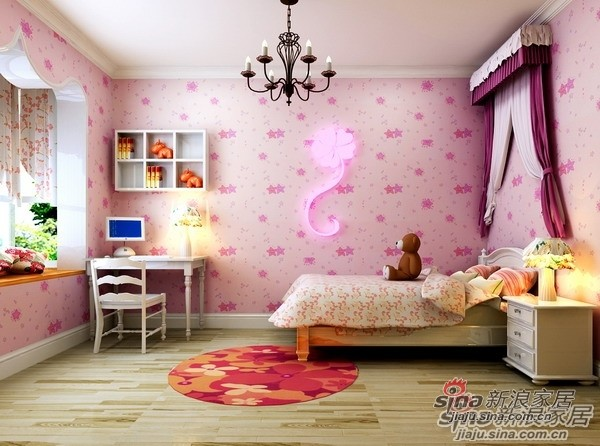 110平米高性价比3居爱家儿童房设计