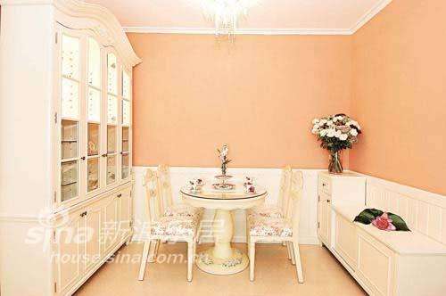 简约 二居 餐厅图片来自用户2557010253在粉橙色温馨 营造梦幻温暖家居世界37的分享