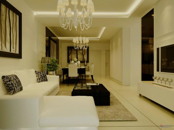 府前官邸三居室简约装修风格设计图