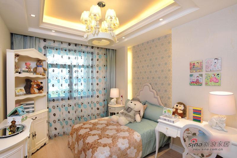 混搭 三居 卧室图片来自用户1907655435在11万清包精装125平混搭3居33的分享