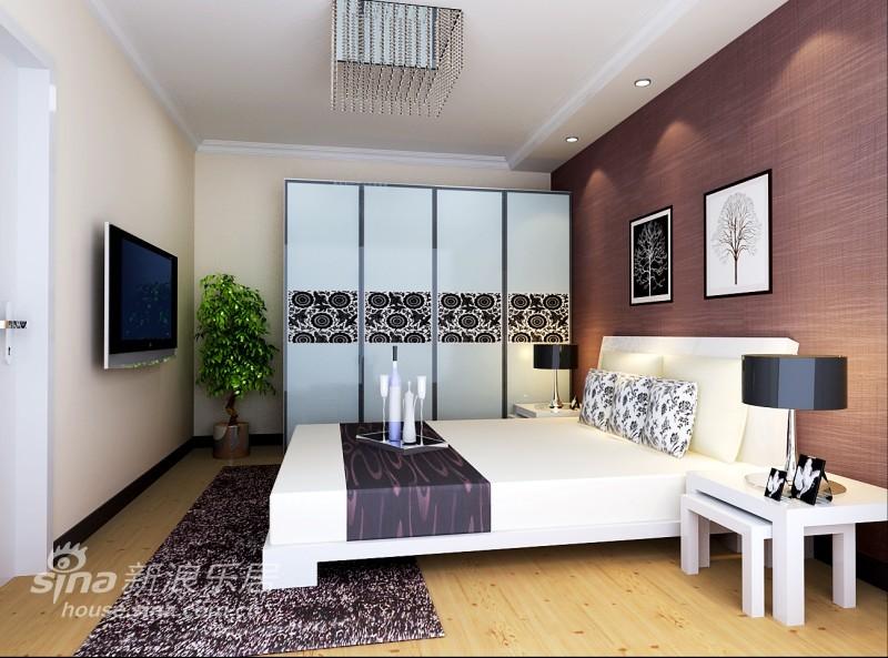 简约 二居 卧室图片来自用户2557010253在激情似火简约风格两居48的分享