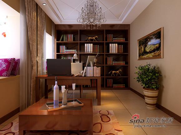 简约 别墅 书房图片来自用户2557010253在6.8万超值打造230平别墅49的分享