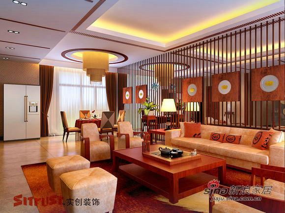 中式 别墅 客厅图片来自用户1907696363在22万装315㎡中式风格独栋别墅64的分享