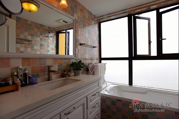 美式 二居 卫生间图片来自用户1907685403在110平时尚公寓爱上美式风36的分享