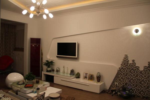 客厅电视墙-西