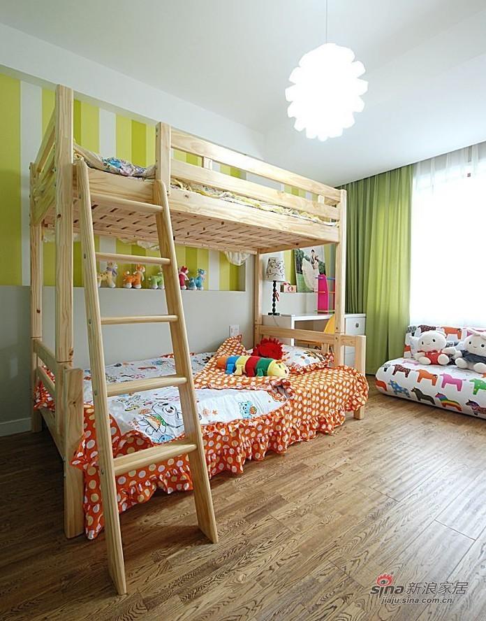 简约 二居 儿童房图片来自用户2557010253在8万打造80平异域风情爱家23的分享