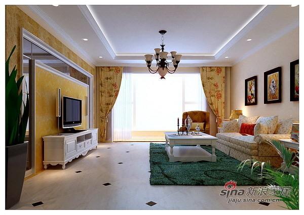 140平时尚浪漫大气简欧风格三居客厅设计