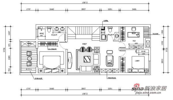 230平米联排别墅新古典