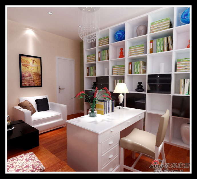 简约 二居 书房图片来自用户2559456651在少即是多 5.9万营造莱茵都市现代感时尚之家61的分享