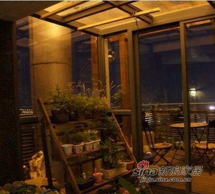 阳台的风景,花架仍然淘宝。