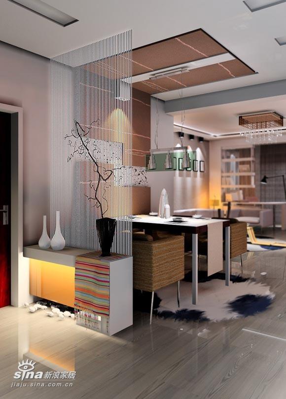 简约 三居 餐厅图片来自用户2556216825在实创装饰绿城百合38的分享