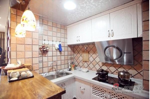 美式乡村-装修效果图-厨房:橱柜增加了美