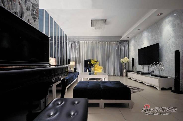 简约 二居 客厅图片来自用户2558728947在小情侣6.3万硬装95平简约新房84的分享