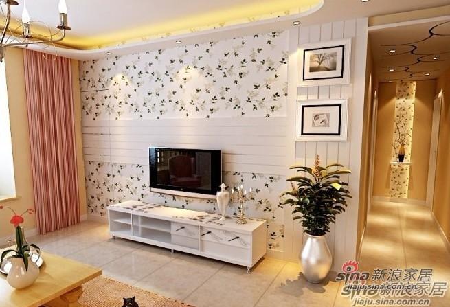 简约 一居 客厅图片来自用户2738093703在6.6万元装112平米的简约田园风32的分享