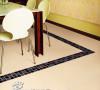 瓷砖每个层面色彩过渡自然、肌理丰富多变、纹路形态各异,适合客厅、卧室铺设,辅以黑、棕色瓷砖,使得整体效果更为时尚