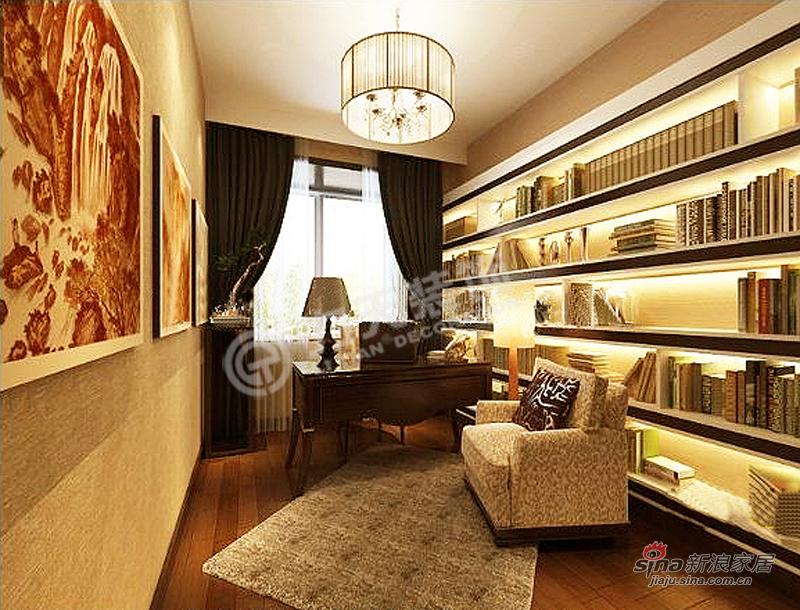 欧式 三居 书房图片来自阳光力天装饰在金融街中心-三室三厅三卫-简欧风格34的分享