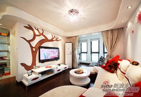 简约 二居 客厅图片来自用户2739378857在新婚房80平匠心打造的温暖美窝52的分享