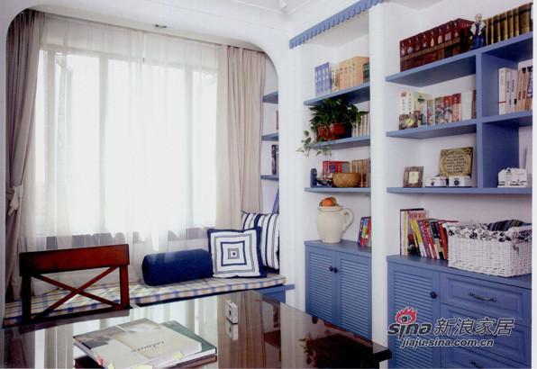 地中海 二居 书房图片来自用户2756243717在清新地中海29的分享