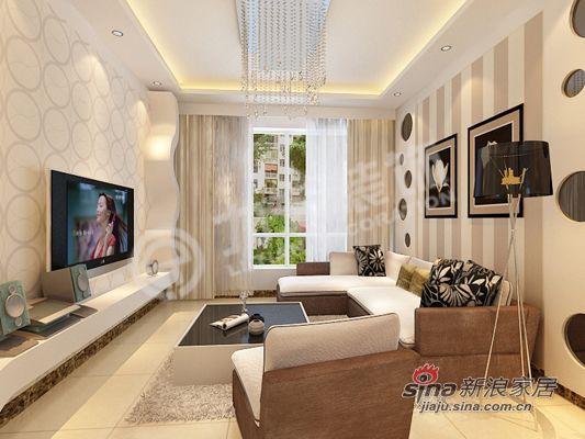 简约 二居 客厅图片来自阳光力天装饰在时尚现代简约两居80的分享