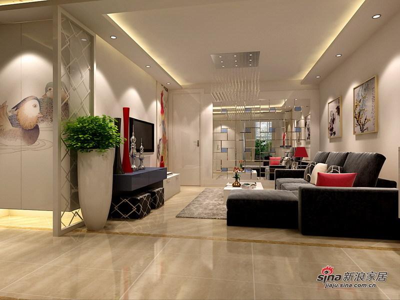 简约 二居 客厅图片来自用户2745807237在4.5万装修北空宿舍93㎡简约2居室22的分享