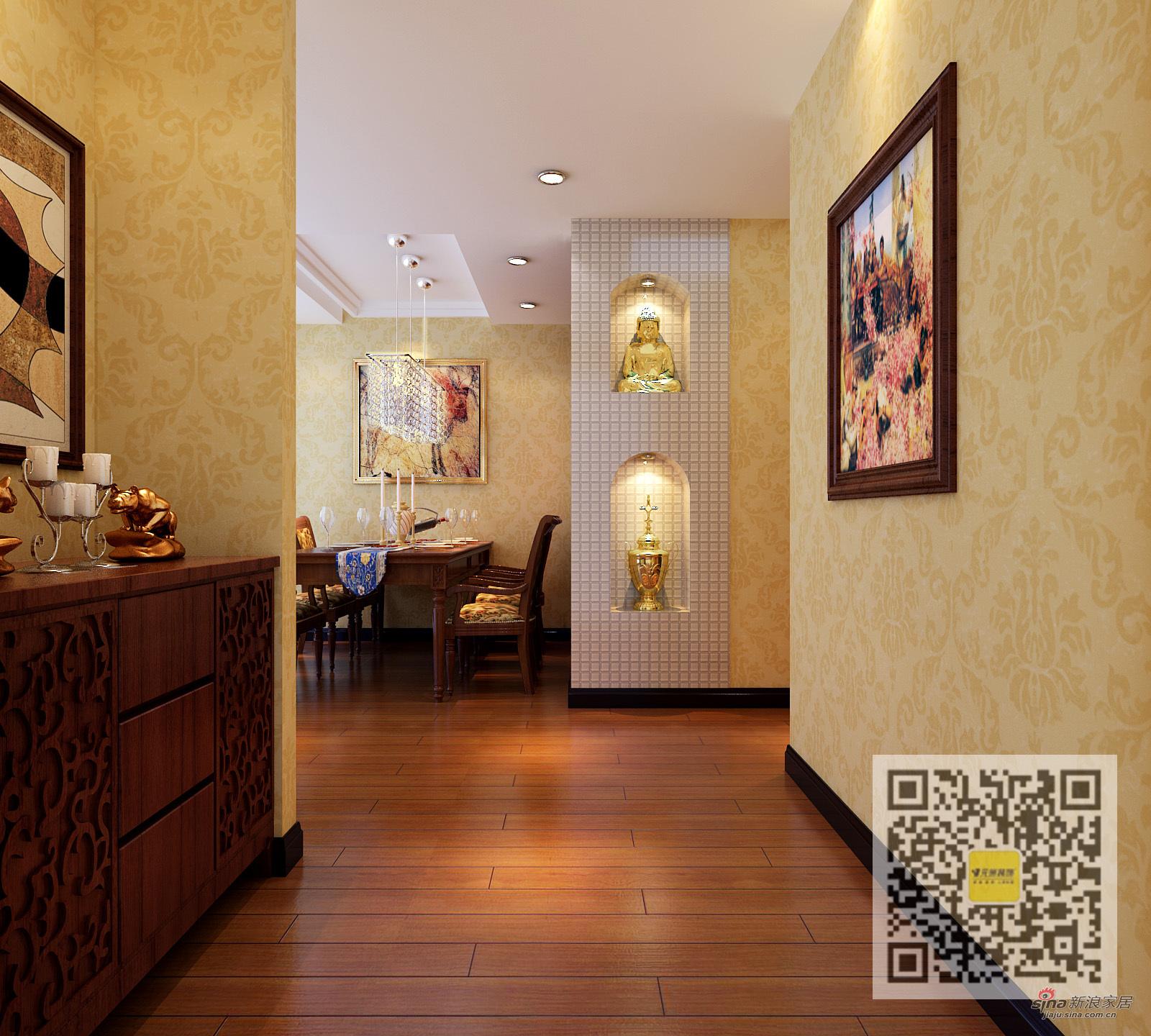 欧式 二居 玄关图片来自用户2746869241在雍和家园简欧风格两居室61的分享