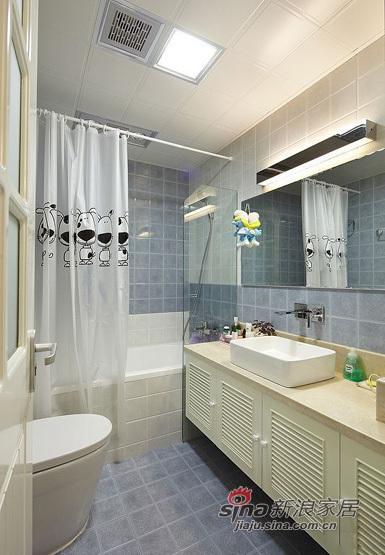 美式 三居 卫生间图片来自用户1907685403在11万铸造140平美式风格三居室45的分享