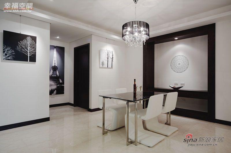 简约 三居 餐厅图片来自幸福空间在231平黑白利落时尚大3居爱家83的分享