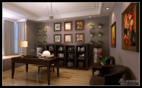 恒大绿洲-书房效果图