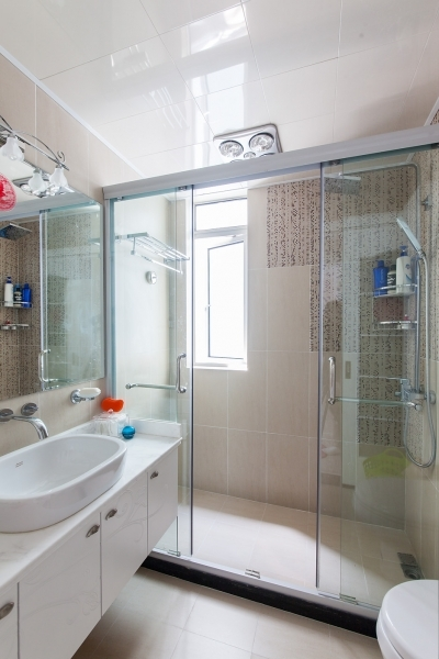 简约 实创装饰 二手房装修 卫生间图片来自用户2746953981在22图清爽小户型卫浴 营造明亮洁净感的分享