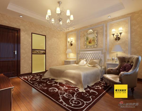 110平米观景园简欧风格二居卧室效果图
