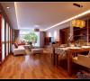 简中式客厅与餐厅