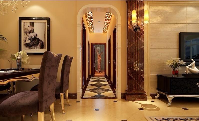 欧式 复式 餐厅图片来自用户2746869241在古典欧式风格打造120平米复式59的分享