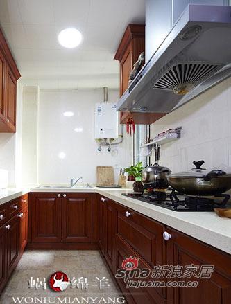 中式 三居 厨房图片来自用户1907659705在4.8万打造67平香艳中式家47的分享