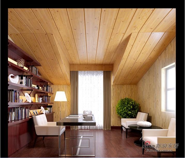 混搭 别墅 书房图片来自用户1907691673在新中式混搭尊享极品豪宅41的分享