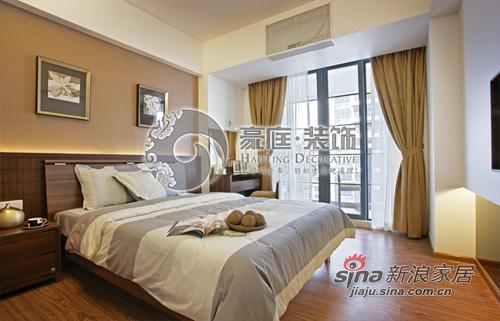 中式 三居 卧室图片来自用户1907658205在6万装138平新中式家48的分享
