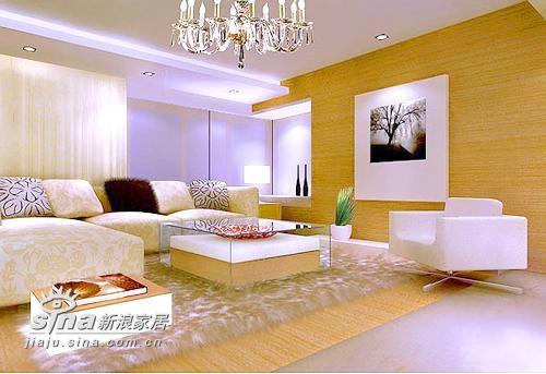 现代简约主义风格设计的起居室