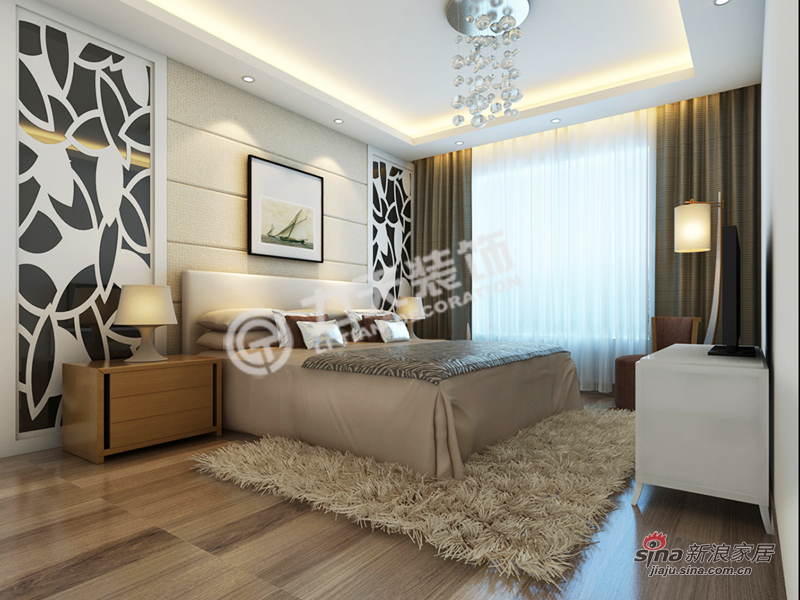 简约 三居 卧室图片来自阳光力天装饰在福源九方-三室两厅一厨一卫-现代简约83的分享