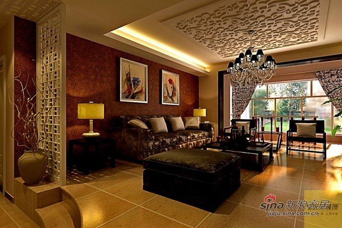 混搭 三居 客厅图片来自用户1907689327在145平混搭现代带中式风格93的分享