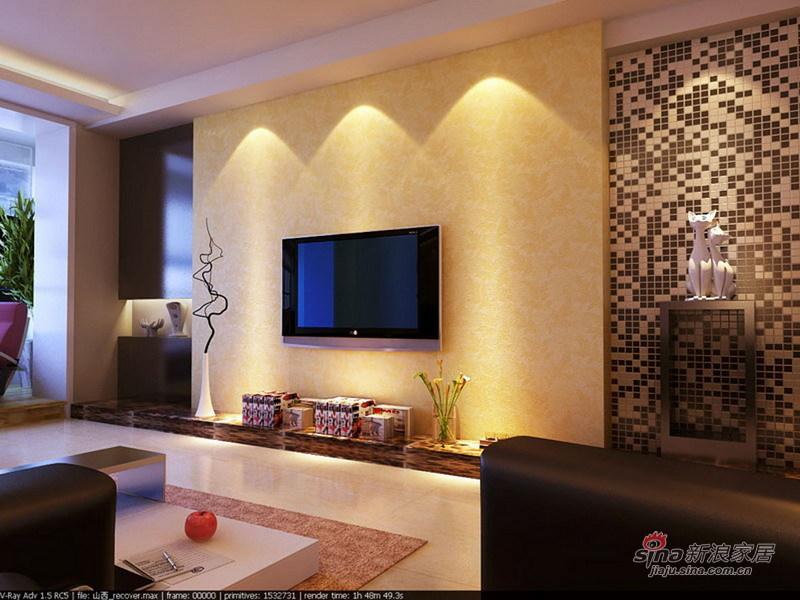 简约 一居 客厅图片来自用户2557010253在三口之家现代简约风低调奢华的居室36的分享