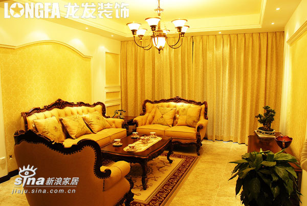 欧式 三居 客厅图片来自用户2746953981在东尚样板间实景70的分享