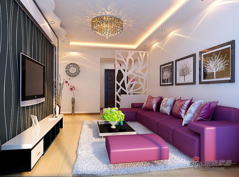 简约 二居 客厅图片来自用户2738820801在5.5万打造恒祥城100平米现代简约两室一厅59的分享