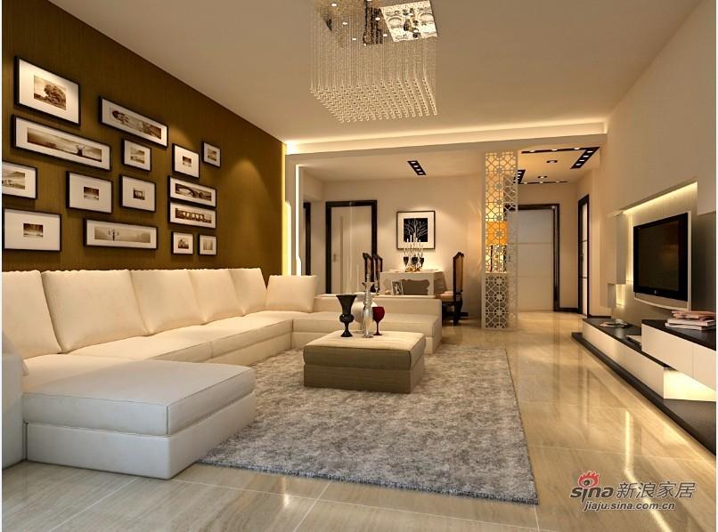 简约 二居 客厅图片来自用户2558728947在实景90平现代简约2居爱家93的分享