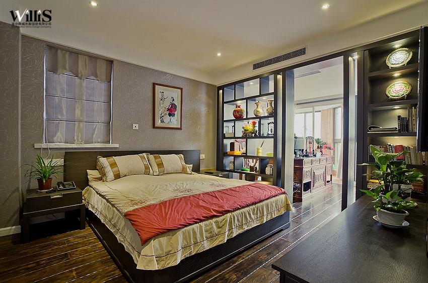 混搭 复式 卧室图片来自用户1907689327在含蓄中式天人合一荷塘月色62的分享