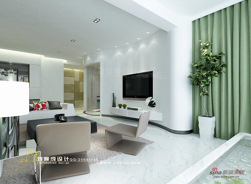 简约 四居 客厅图片来自用户2737735823在【高清】150平唯美的纯净湘潭四居室设计57的分享