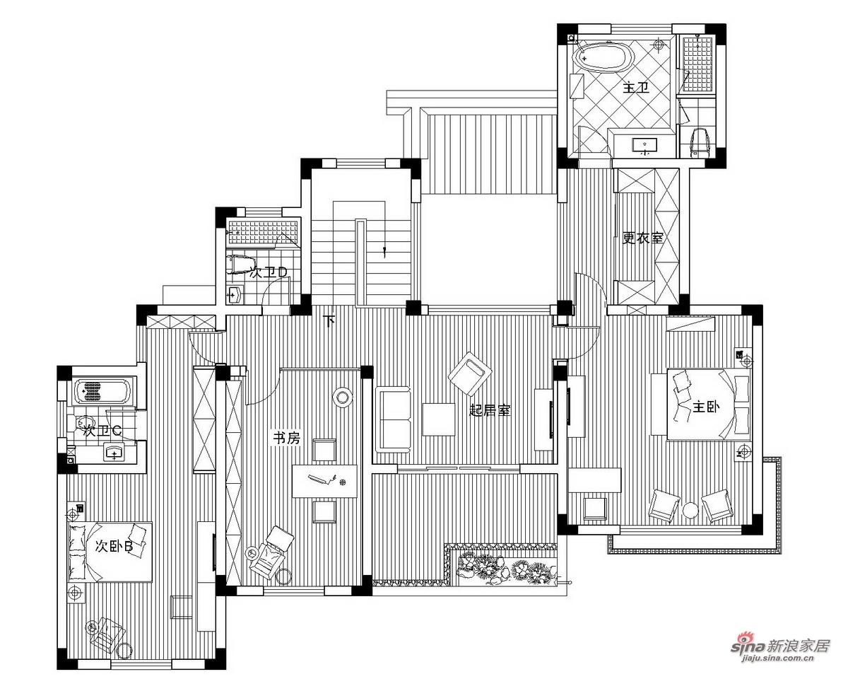 中式 别墅 其他图片来自用户1907696363在【高清】359㎡精致中式别墅样板间86的分享